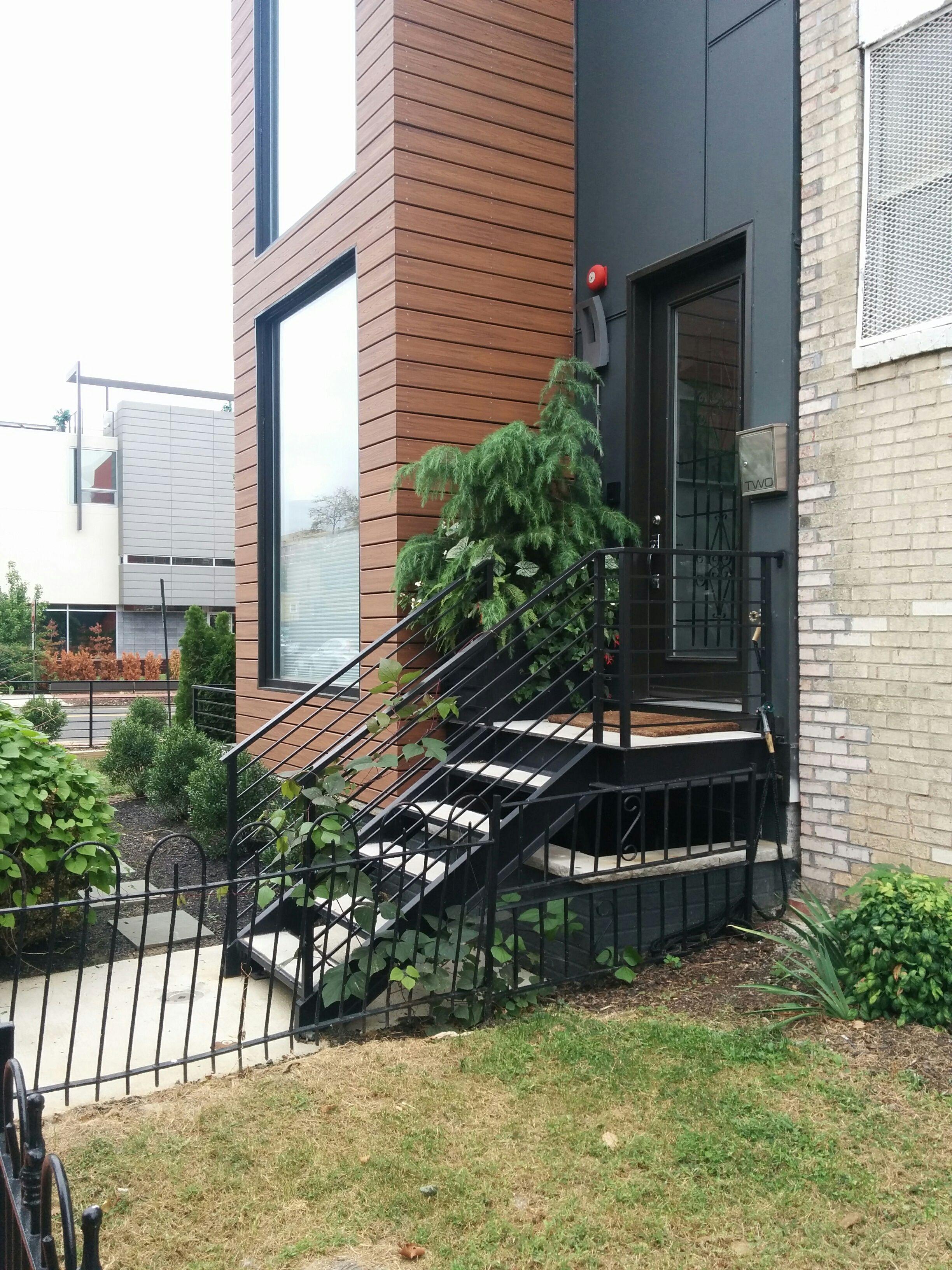 Best Simple Prefab Steel Stair Stoop Steel Stairs Backyard 400 x 300