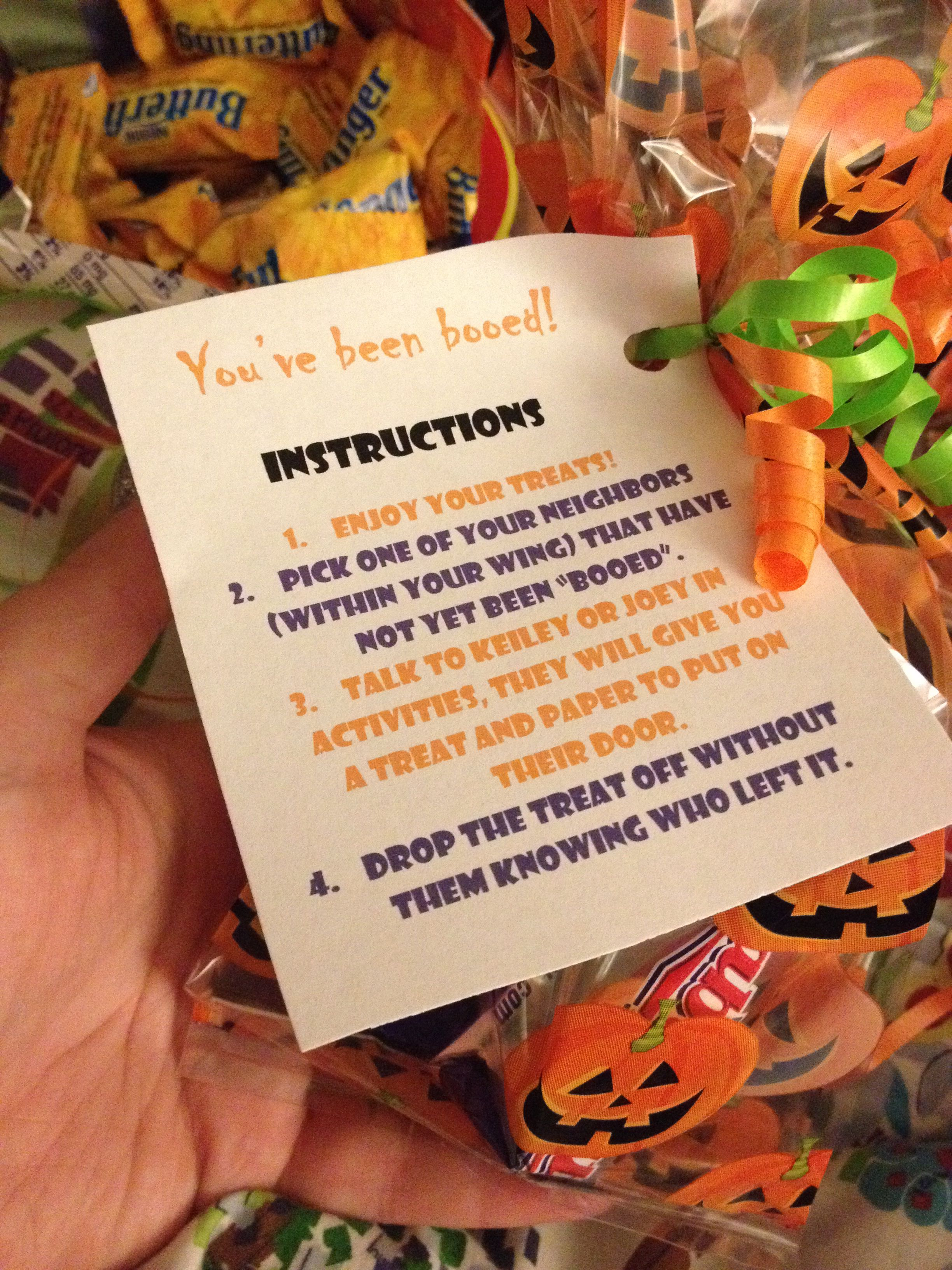 Halloween Boo Gifts For My Residents To Give To One