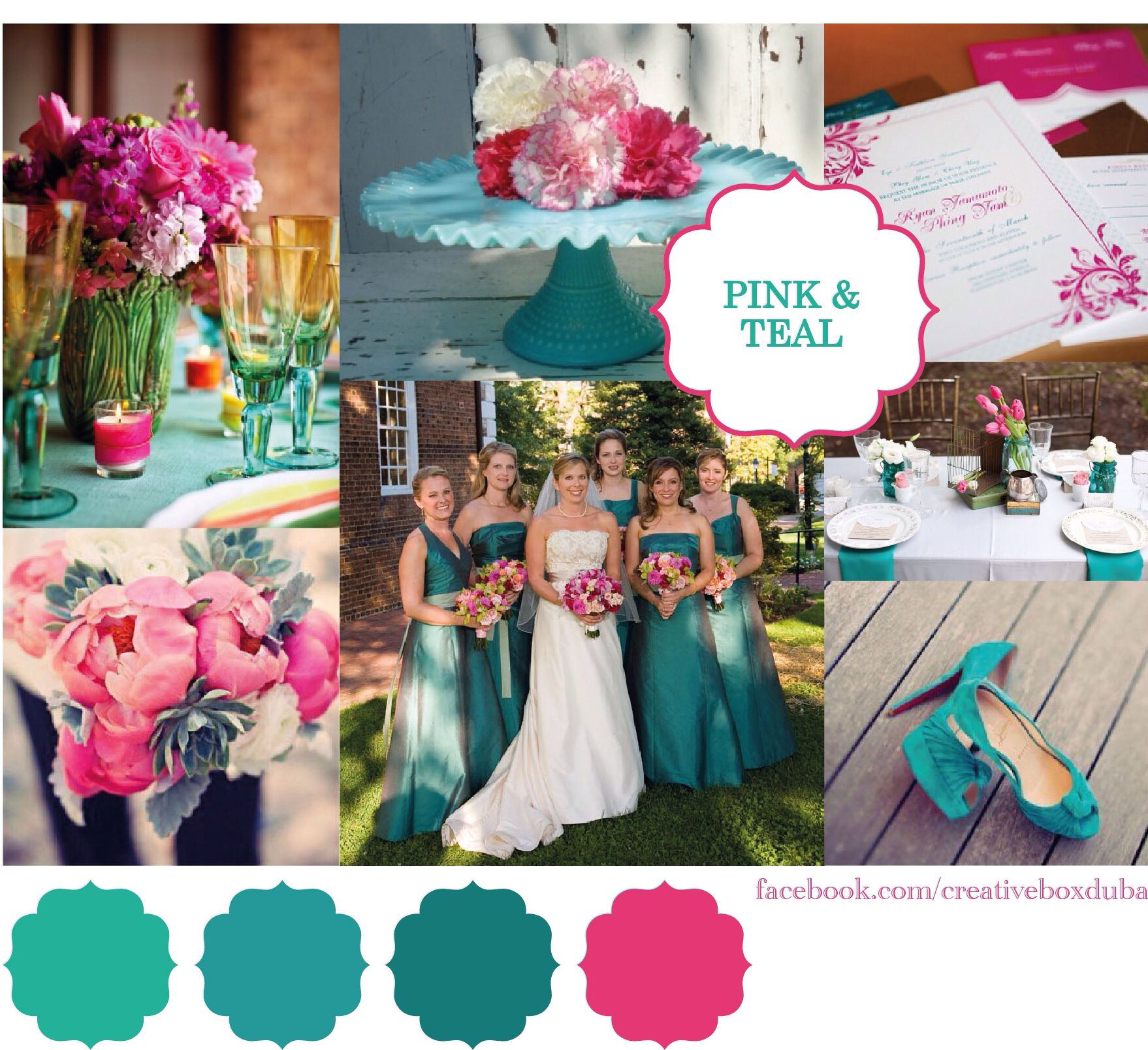 Hot Pink Teal Wedding Colour Scheme Bride Club Mes Pick Of