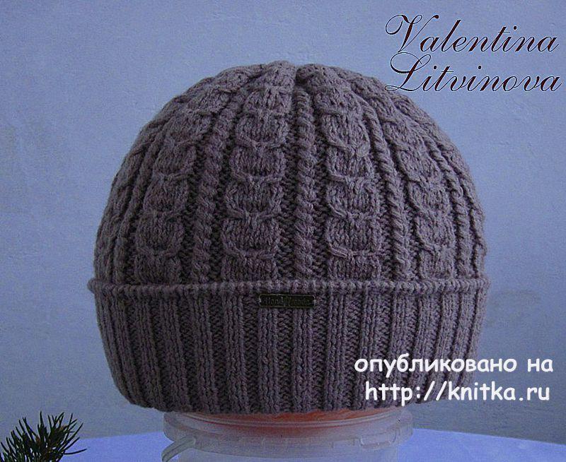 мужская шапка и шарф спицами работы валентины литвиновой вязание и