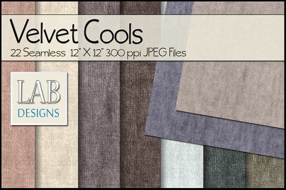 22 Cool Velvet Fabric Textures by Lab Designs on @creativemarket
