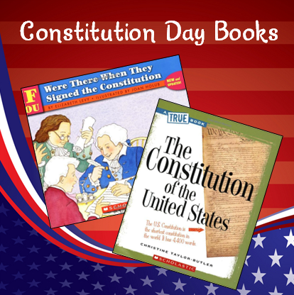 Recommended books to use with elementary students for Constitution Day (Sept 17th) - This page on Teaching Resources also includes Constitution Day freebies.