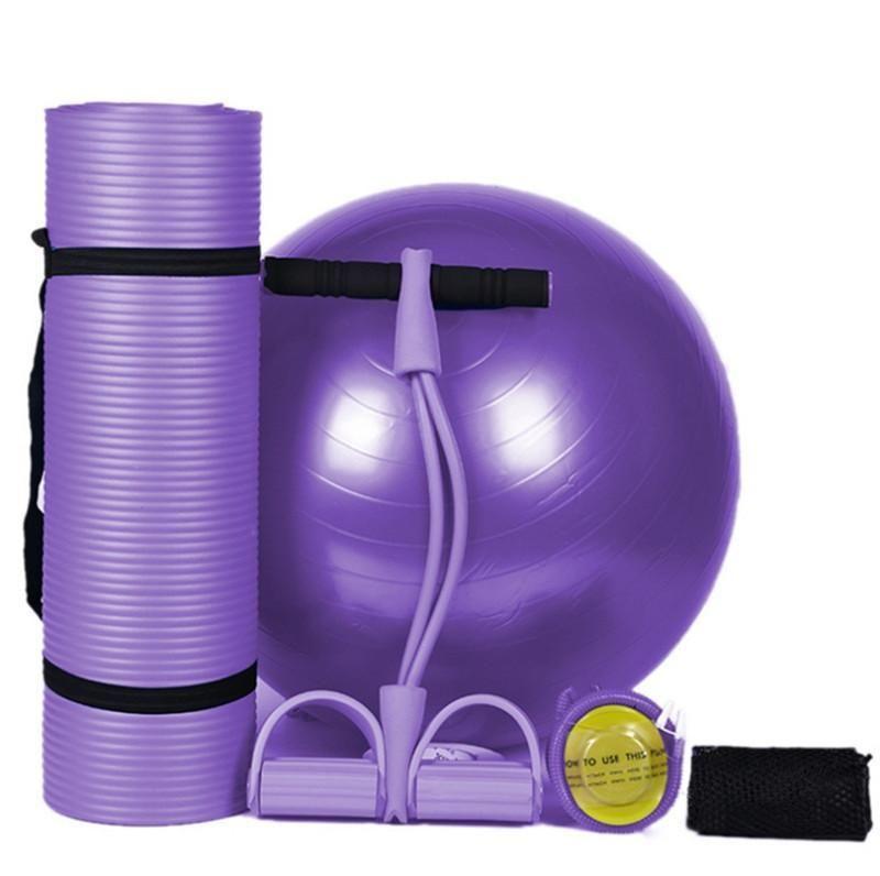 Features Kit 1 Yoga Mat Size 183cm 61cm 1 0cm Pvc Yoga Ball Diameter 25cm Resistance Band Size 27 26 60cm Yoga Kit Yoga Ball Gym Rope