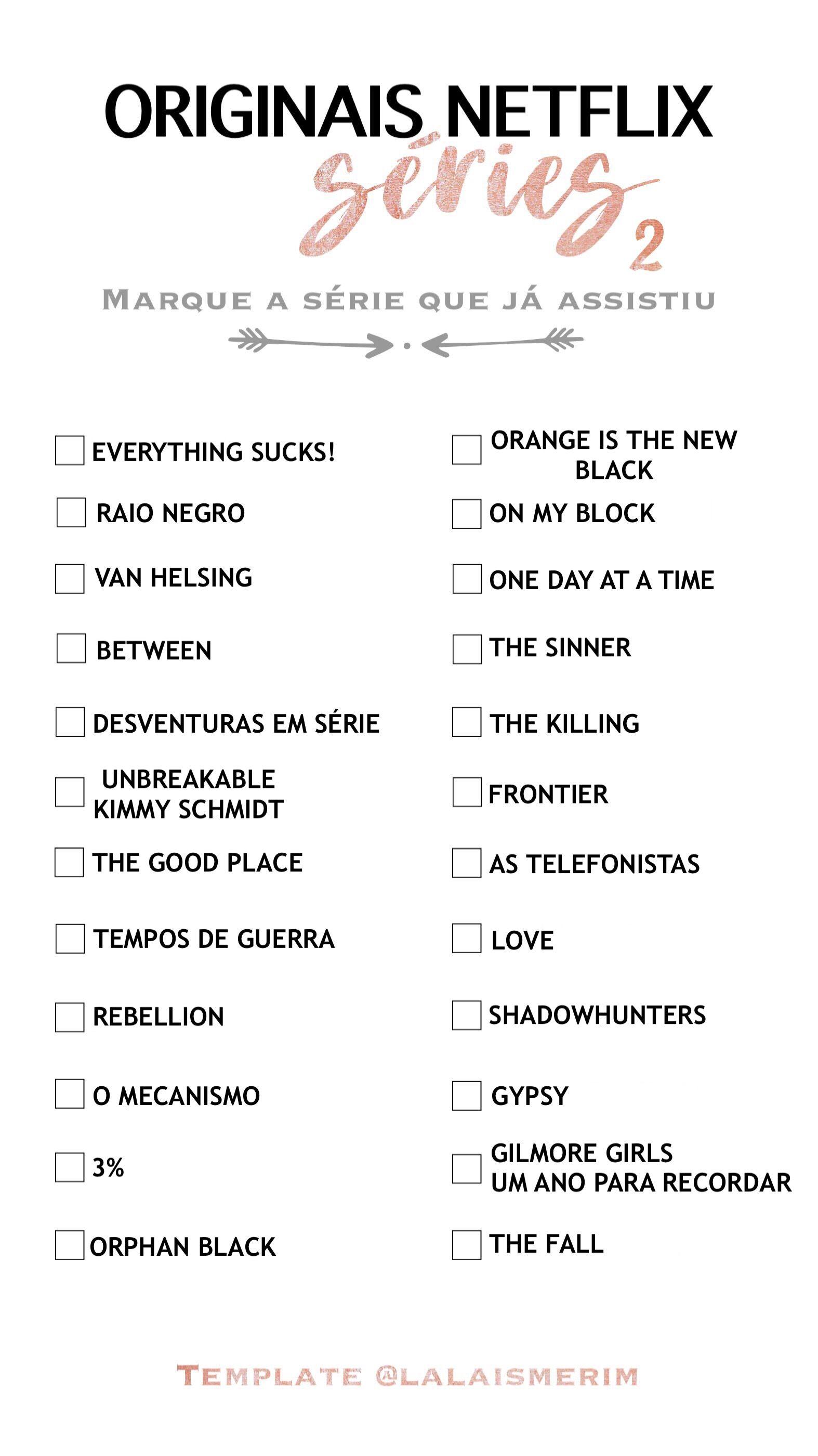 Template Series Originais Do Netflix Textos E Frases Os