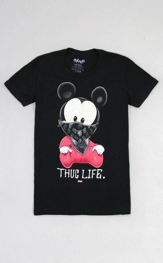 Womens Thug Life Mickey III Tee