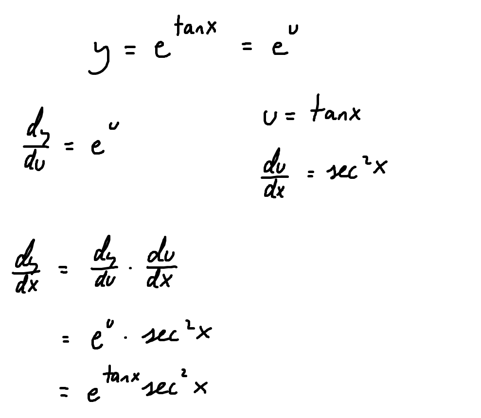 derivative of e  tanx