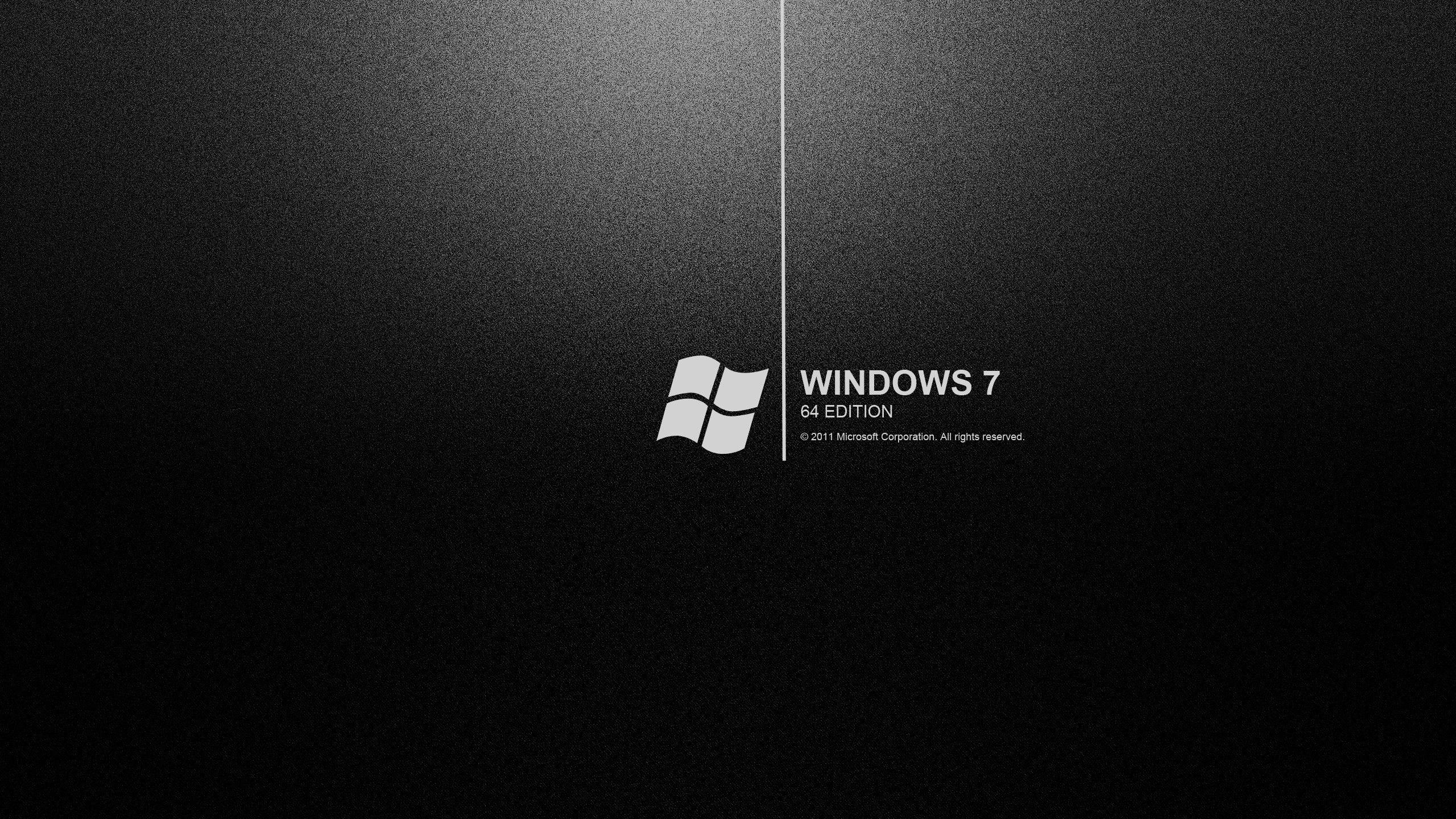 New Windows 7 Black Desktop Wallpaper Dark Wallpaper Hd Dark