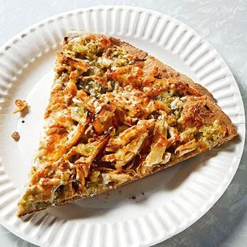 Homemade Pizza - Healthy Pizza Recipes | Fitness Magazine Spicy Chicken Verde Pizza