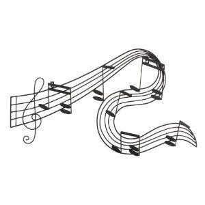 Amazon.com: Abstract Musical Notes Piano Jazz Wall Artwork Art: Home & Kitchen