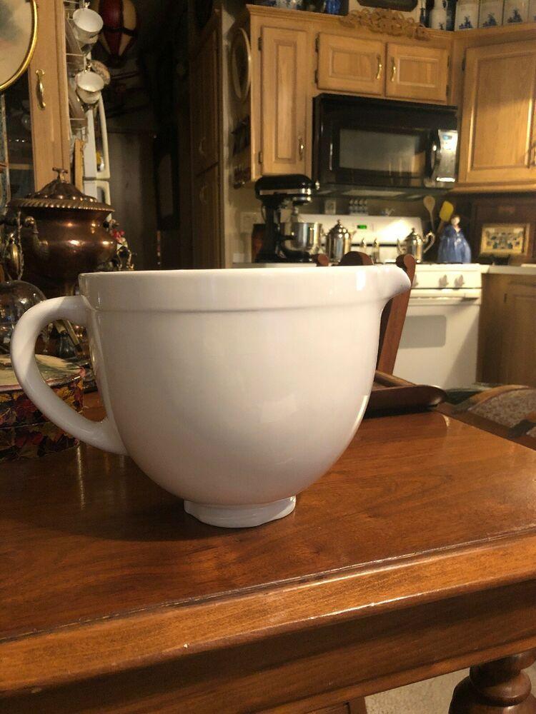 Details about kitchenaid 5 qt ceramic mixing bowlksmcb5