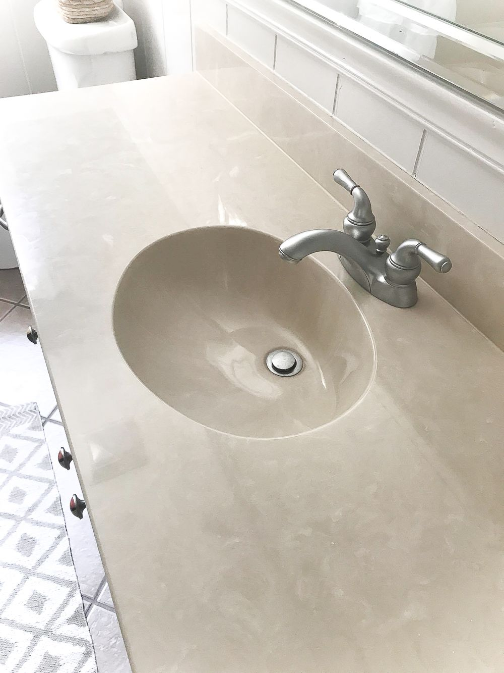 Diy Painted Bathroom Sink Countertop Bless Er House Counter