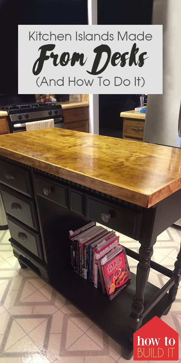 Photo of Kitchen Islands Made From Desks (And How To Do It)