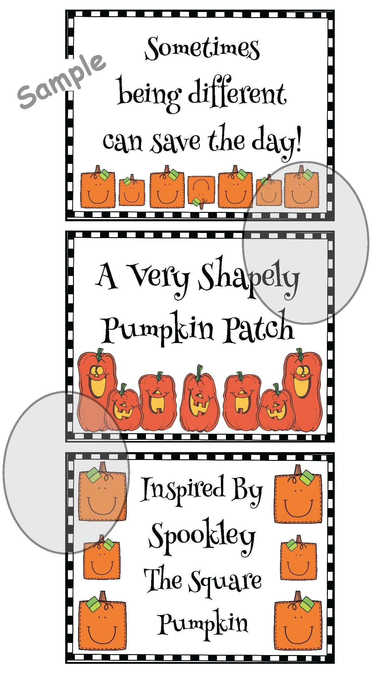 2d Shapes With Spookley The Square Pumpkin With Images