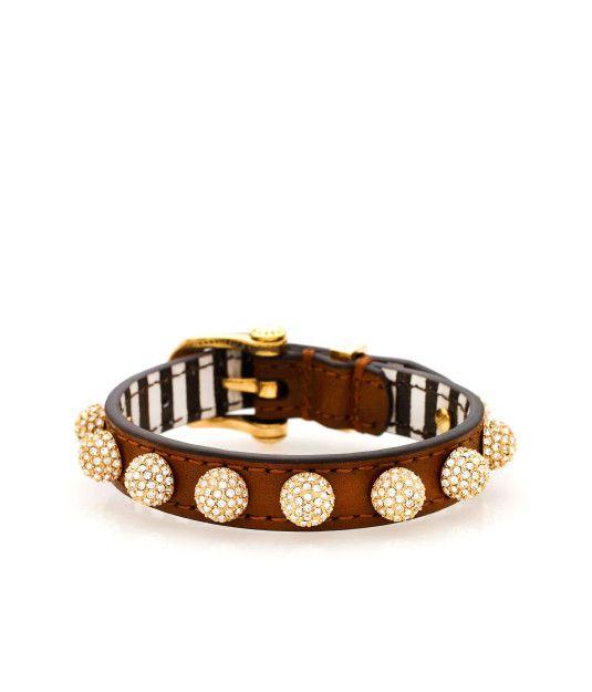 Muse Ball Leather Bracelet | Sparkle | Henri Bendel - very cool