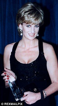 Princes Diana is recognize at an event in the US