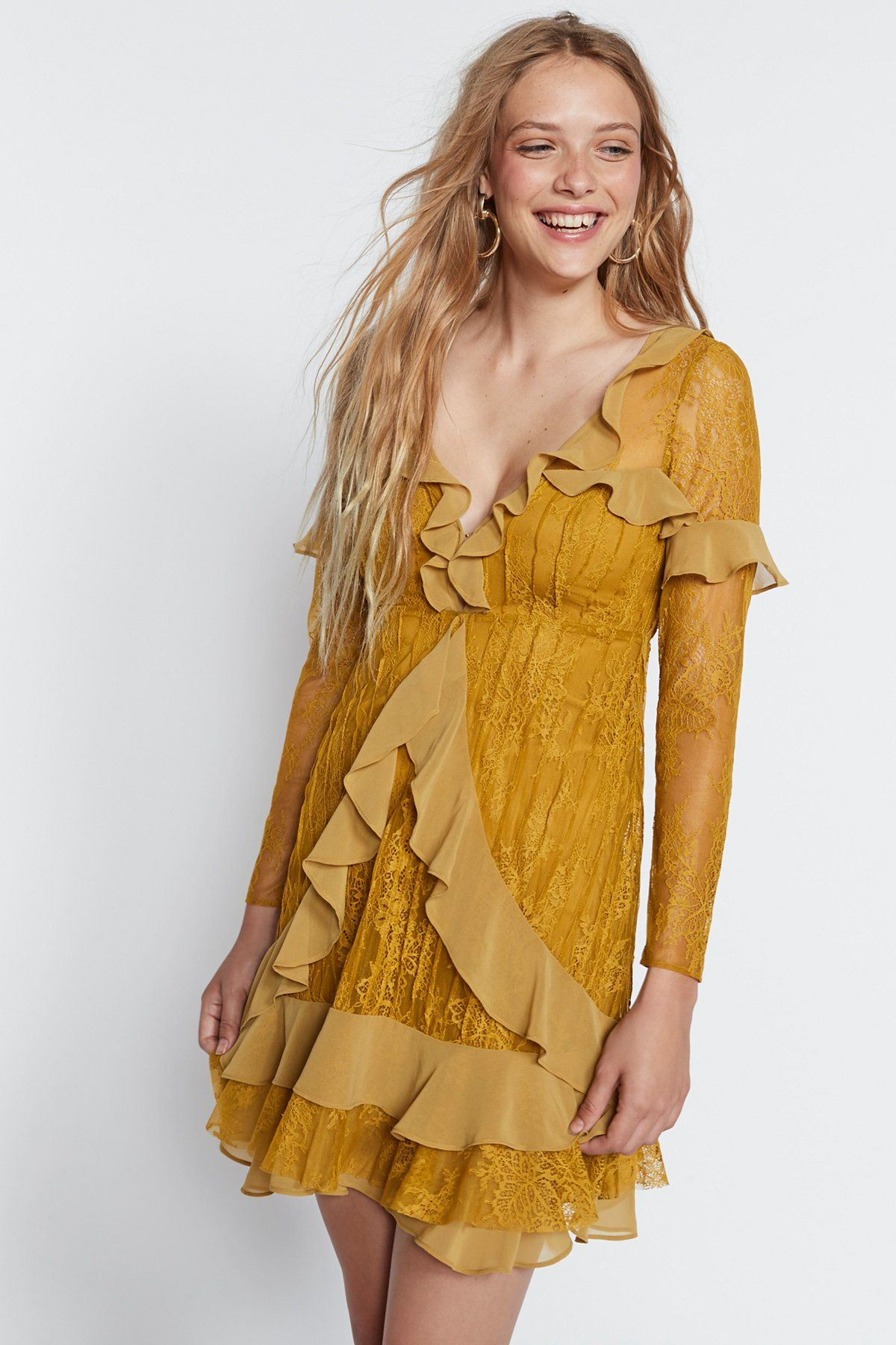 1531a1eafafb For Love & Lemons Daphne Lace Mini Dress at Free People Clothing Boutique