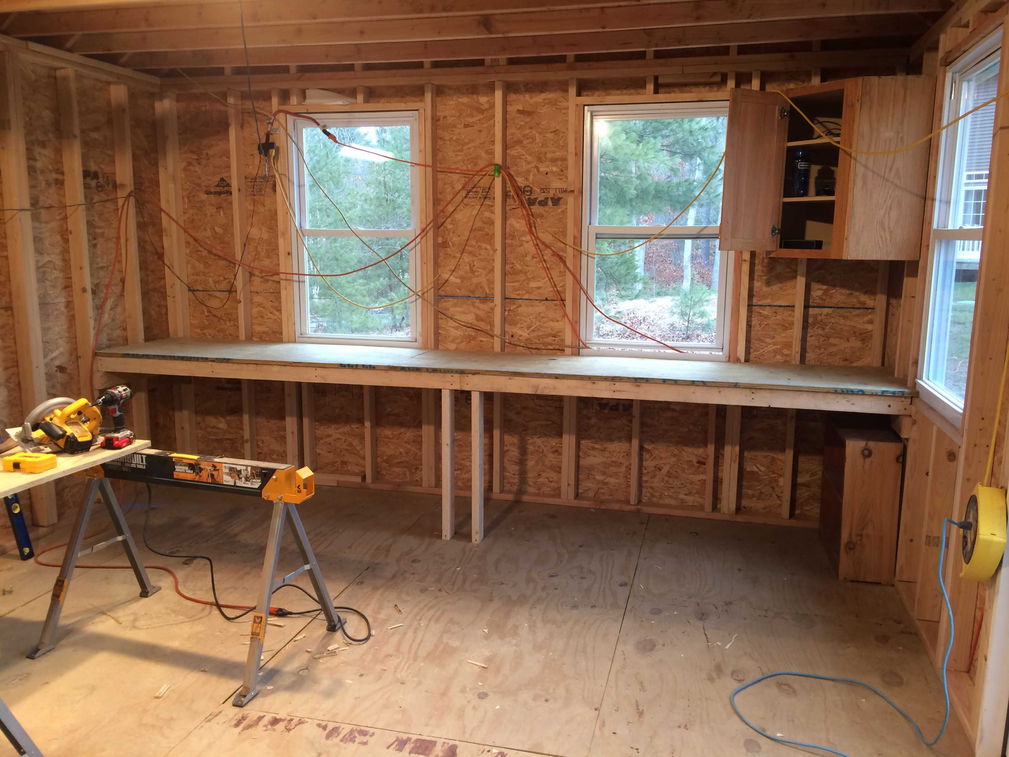 Easy Workbench Build   Shed storage, Car shed, Shed ...