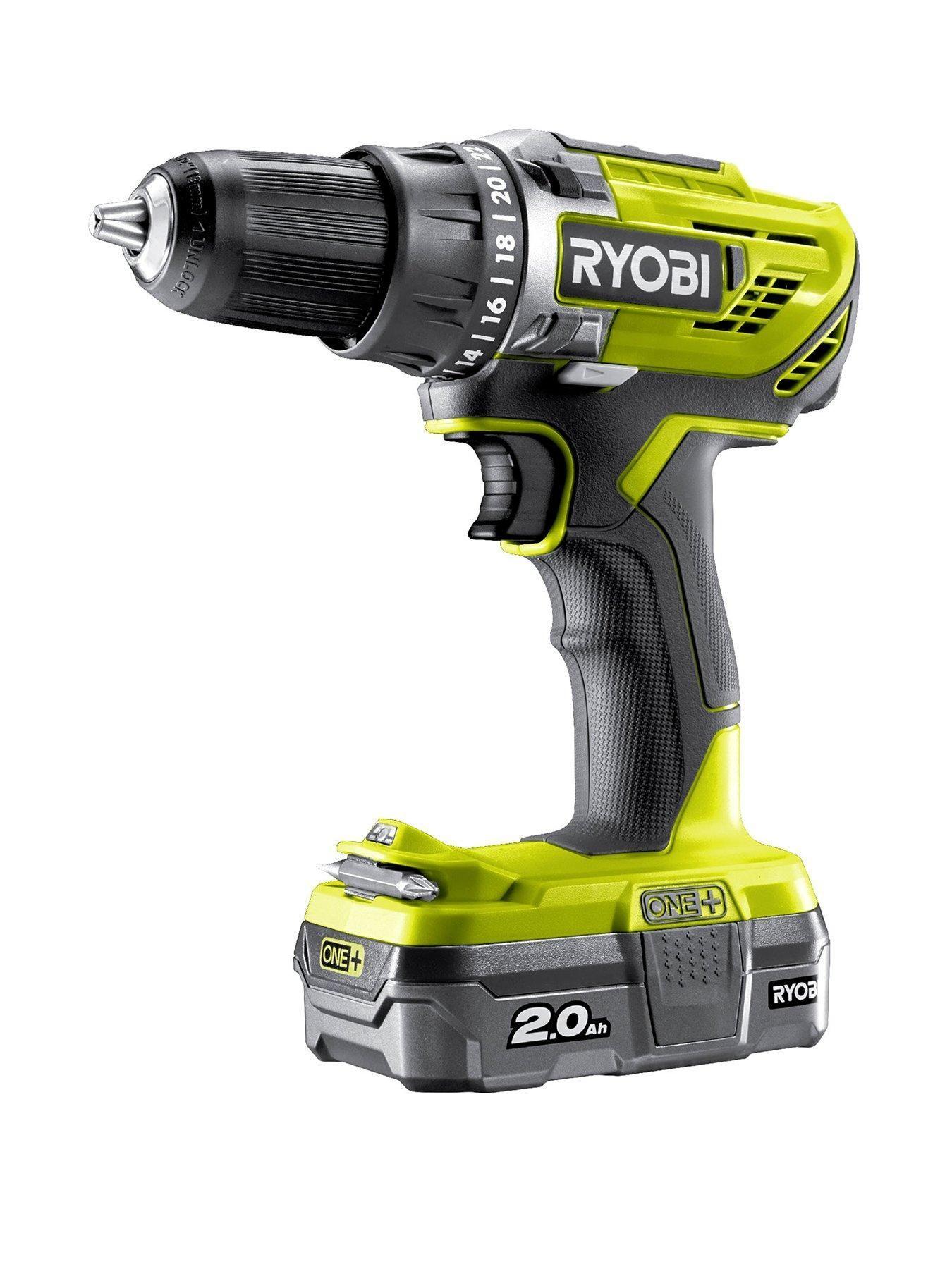 Ryobi R18dd3 120s 18v One Cordless Drill Driver Starter Kit 1 X 2 0ah In One Colour Dekoration Schlafzimmer Wohnzimmer Drill Driver Cordless Drill Drill