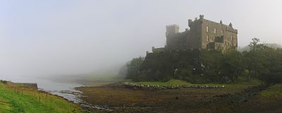 Dunvegan Castle on the Isle of Sky in the mist  August 2007