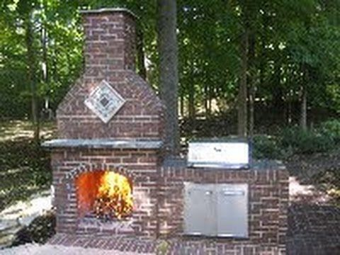 Admirable How To Build An Outdoor Brick Fireplace Diy Outdoor Beutiful Home Inspiration Truamahrainfo