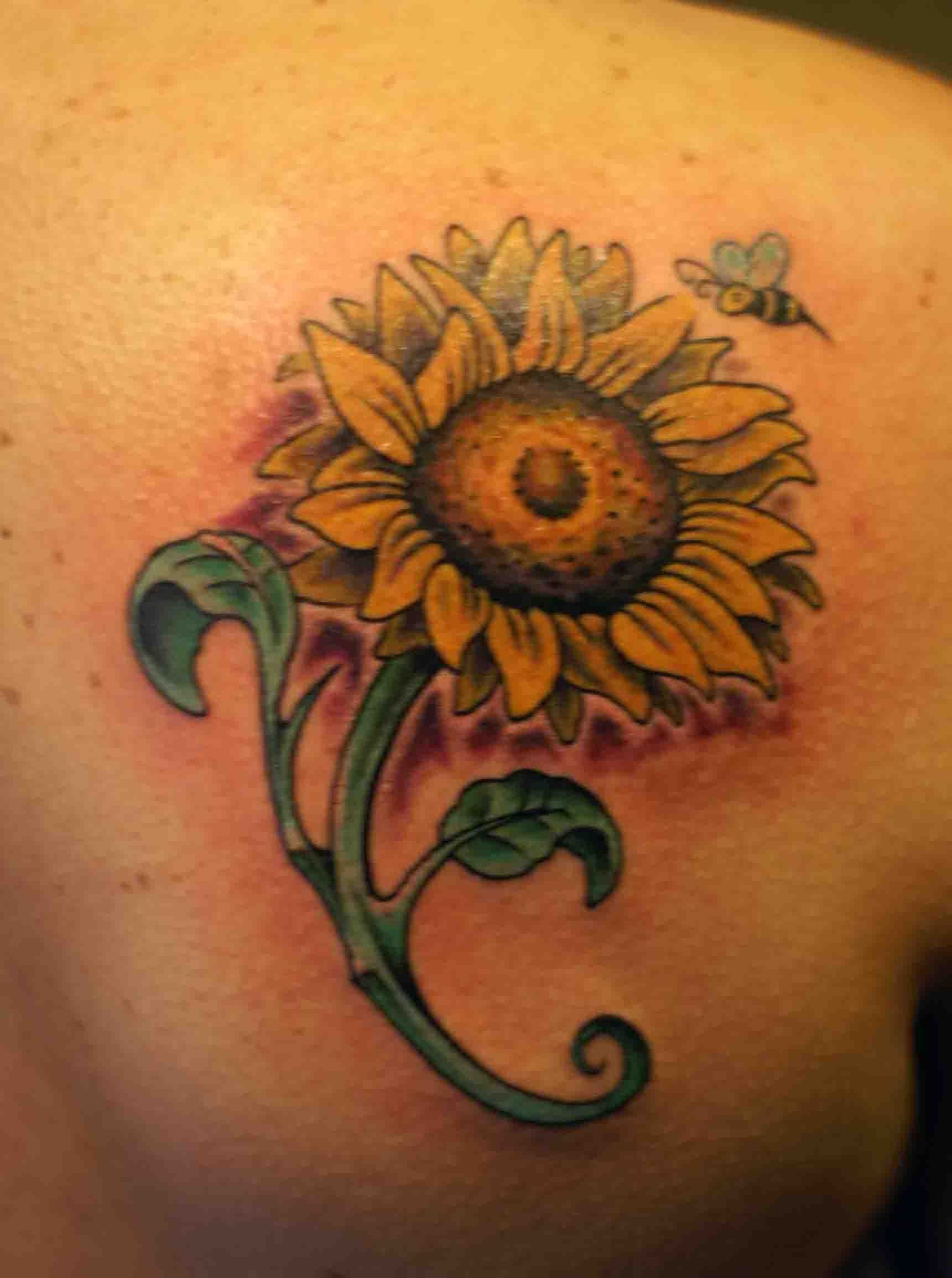 Small sunflower tattoo sunflower tattoos designs ideas and flower tattoos izmirmasajfo Image collections