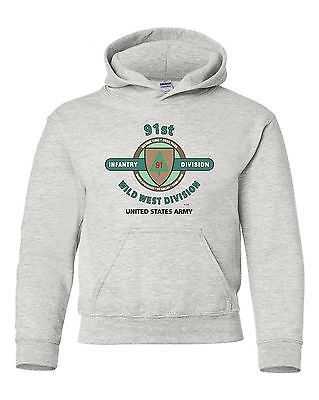 "91ST INFANTRY DIVISION ""WILD WEST "" BATTLE & CAMPAIGN HOODIE W/POCKETS"