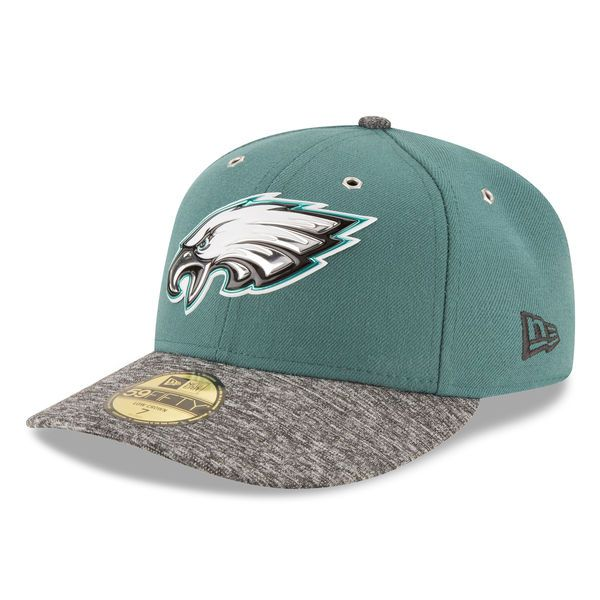 Men s Philadelphia Eagles New Era Green On Stage Low Profile 59FIFTY Fitted  Hat ccc9bbaff93