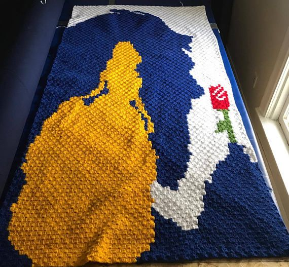 Beauty and the Beast C2C GRAPH ONLY | Crochet - C2C | Pinterest ...