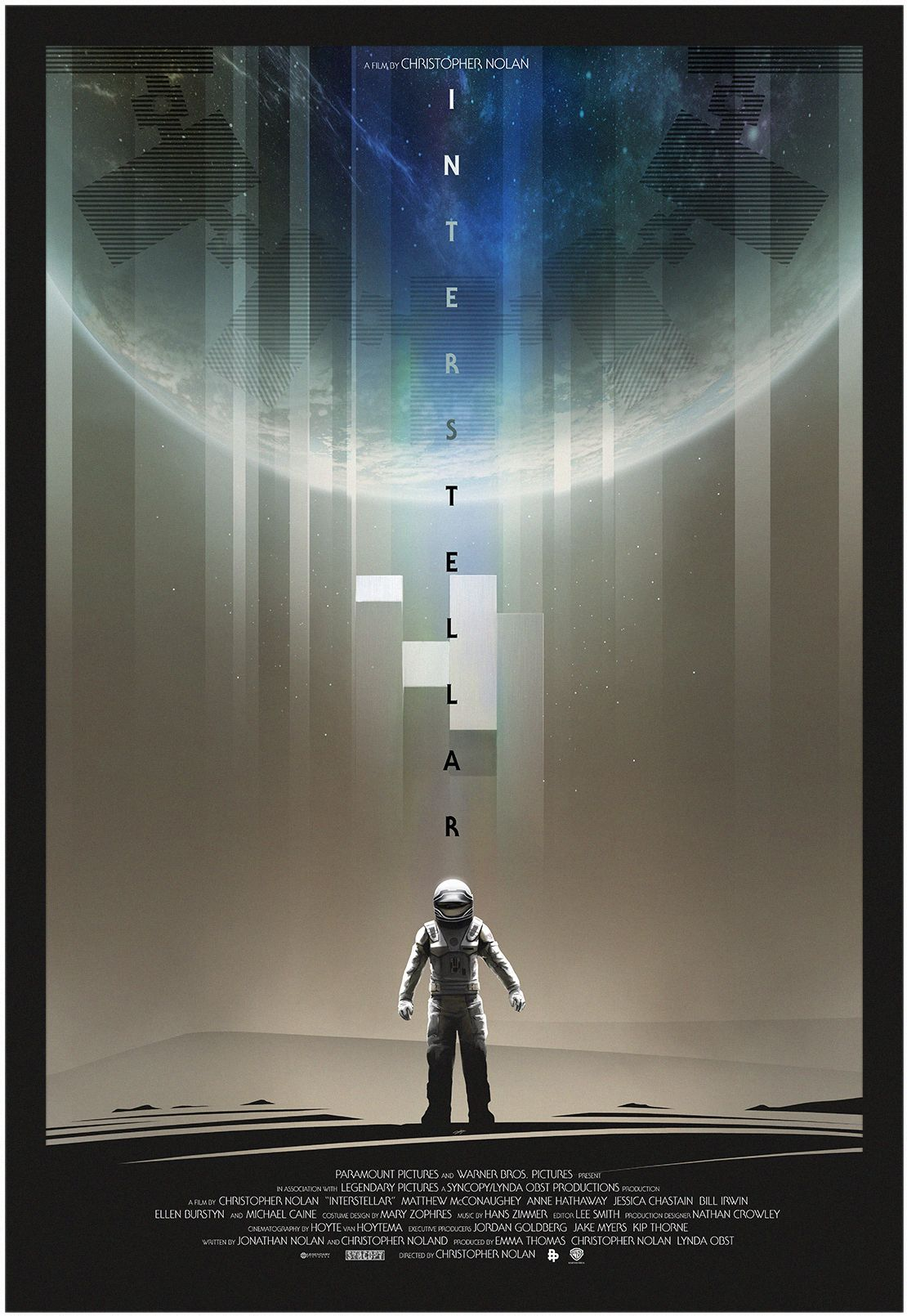 "Interstellar - Andy Fairhurst ---- Poster Posse Project #11 Heads For The Stars With A Tribute To Christopher Nolan's Sci-Fi Adventure: ""Interstellar"" (2014-09)"