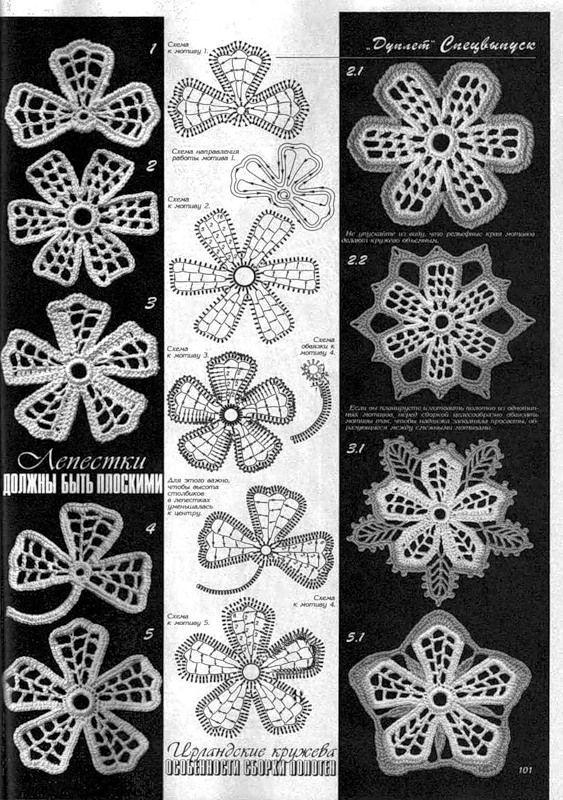 irish crochet motifs -Duplet.Irl.kruzheva_182.jpg   Irische Häkelei ...