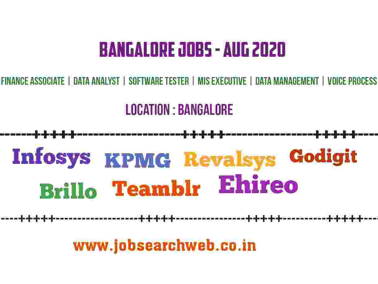 Bangalore jobs infosys kpmg revalsys godigit