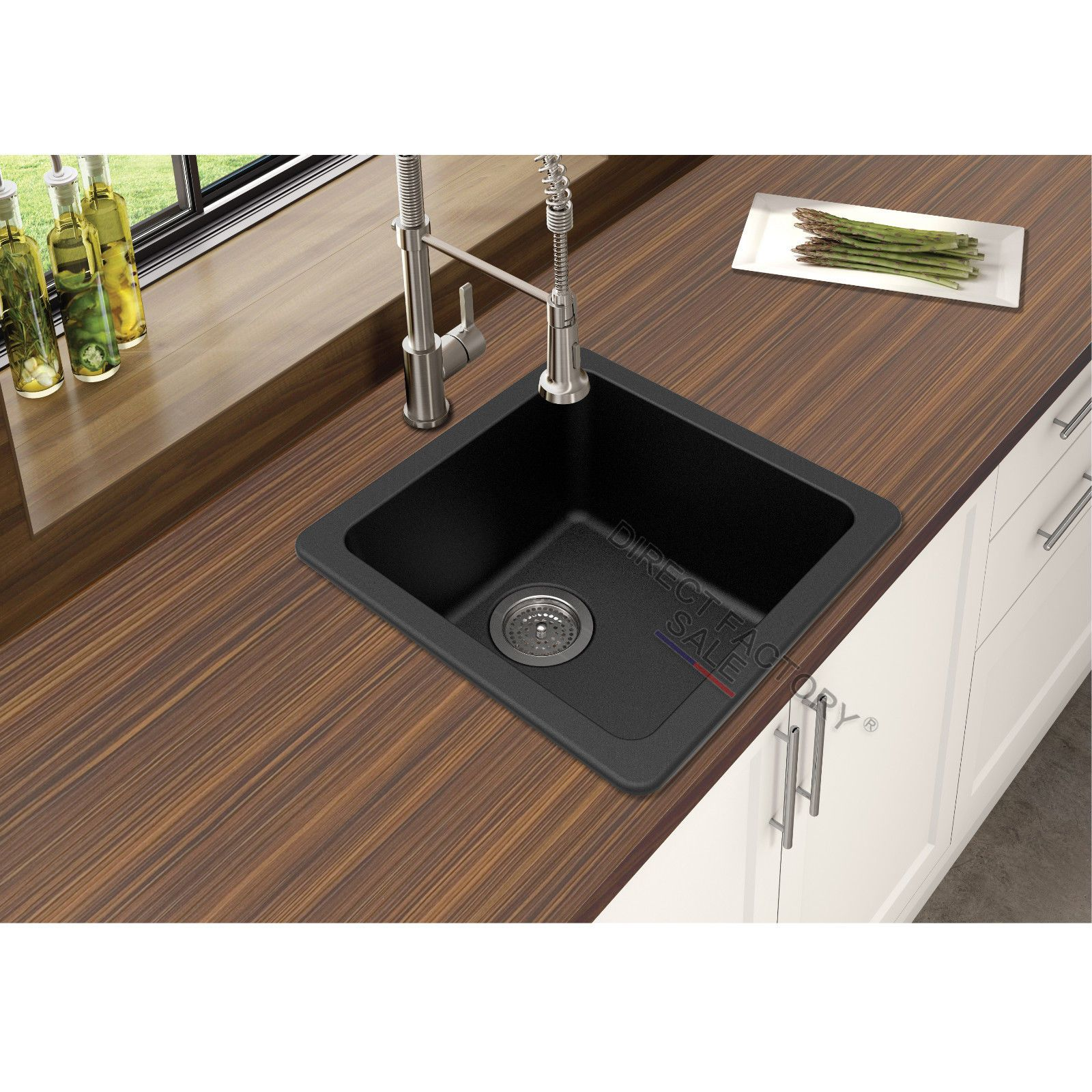 Details about Black White Granite Stone Kitchen Laundry