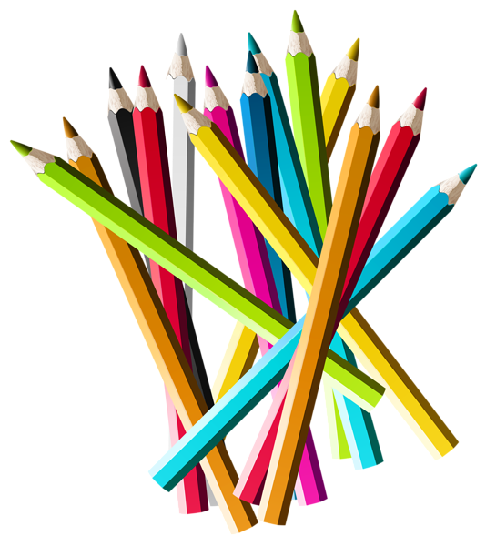 Colorful Pencils PNG Clipart Picture | Pencil png, Colored pencils ...