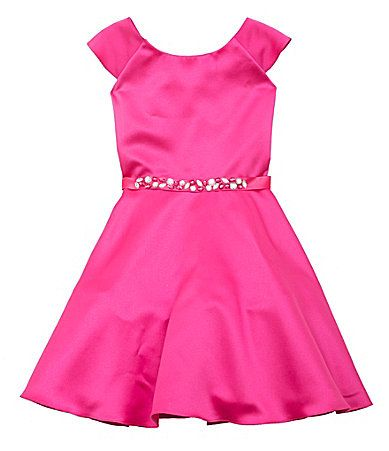 Rare Editions 716 RhinestoneAccentedWaist Dress #Dillards