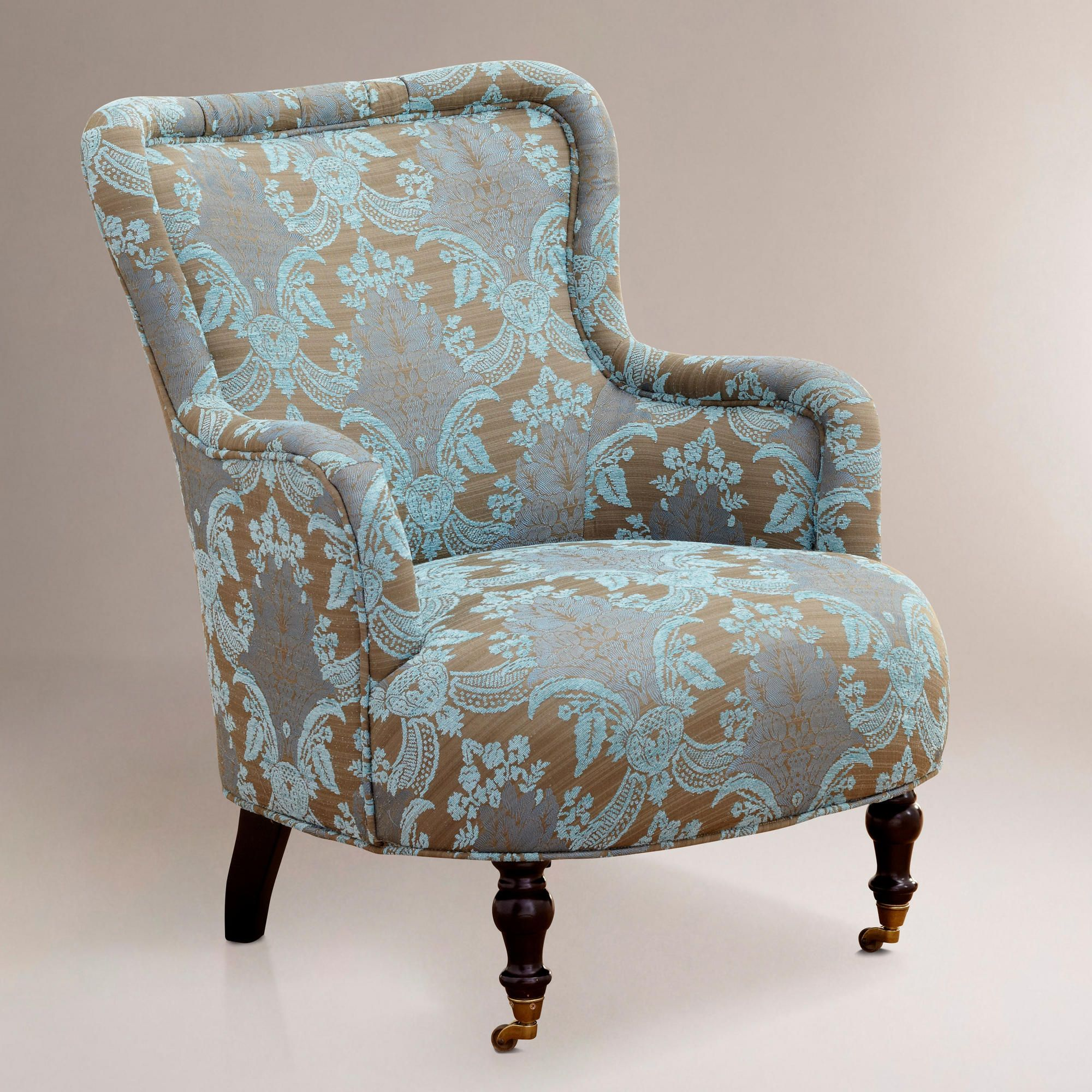 Reading Chair And Ottoman Love The Color Combo And Pattern For Accent Chairs