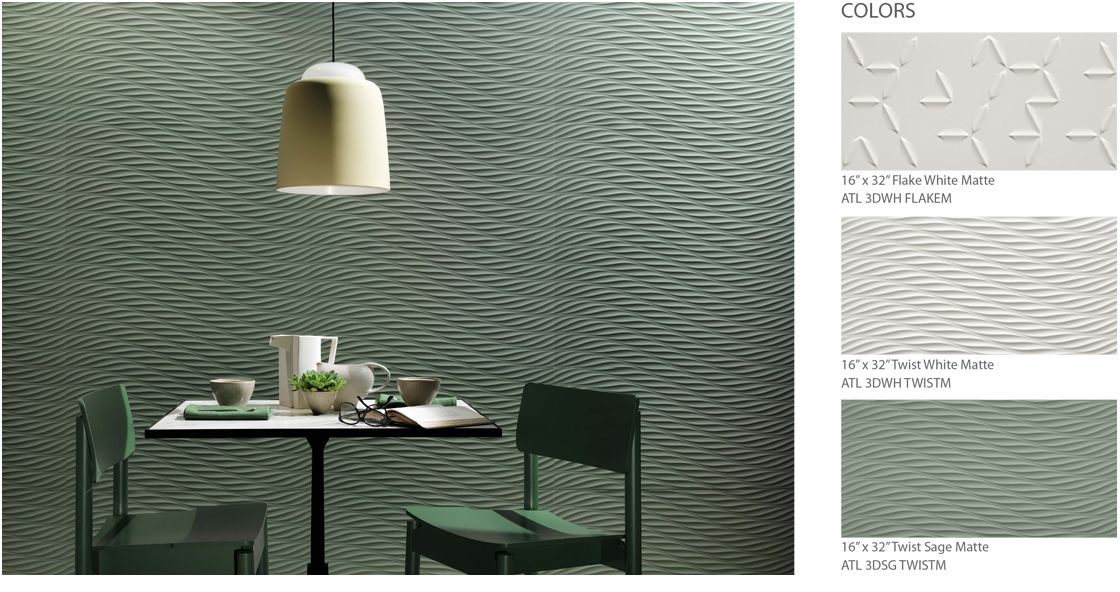 Atlas Concorde 3d Wall Twist Tile Companies Home Decor