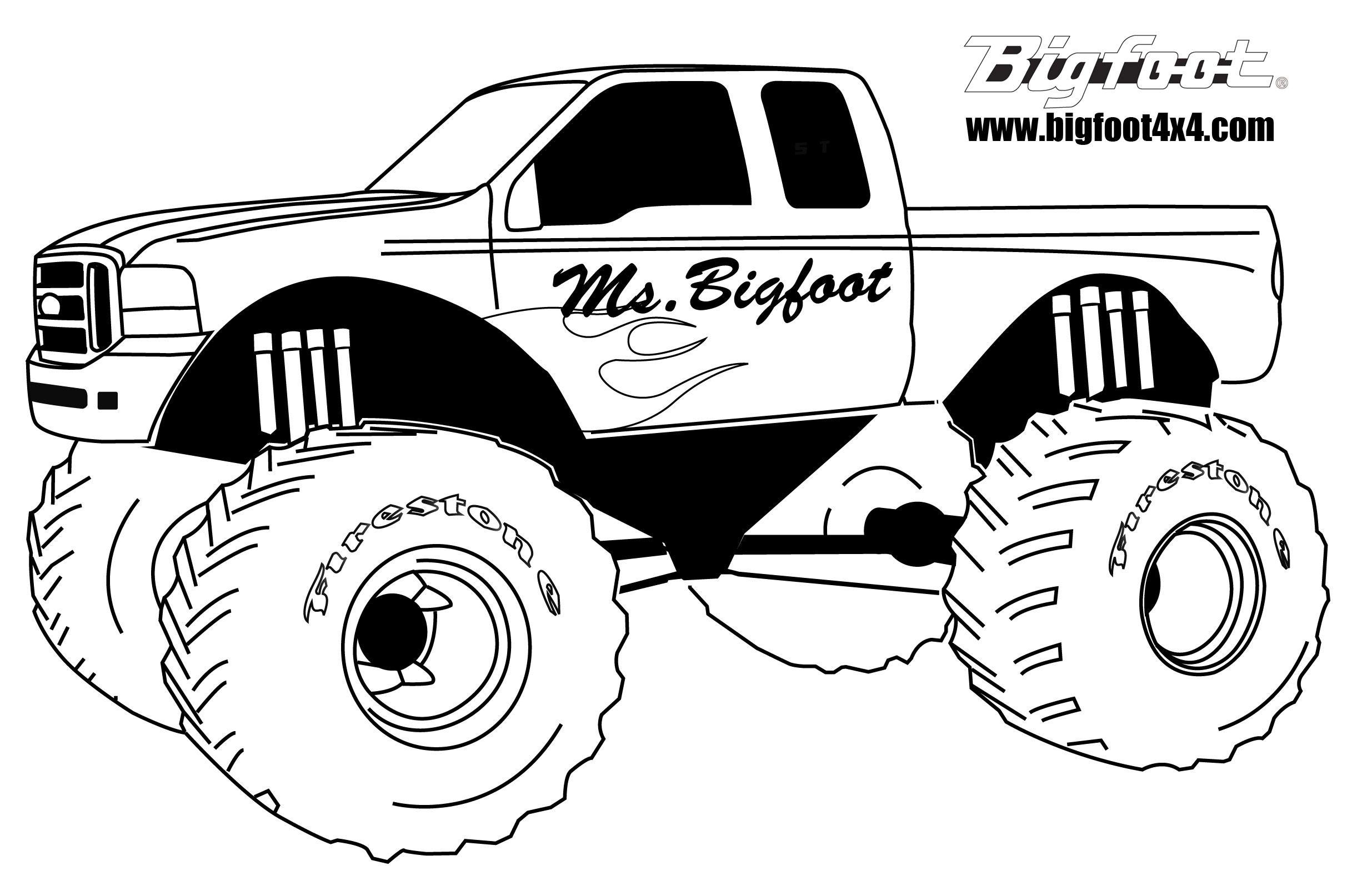 Monster Truck Coloring Pages Images Crazy Gallery Monster Truck