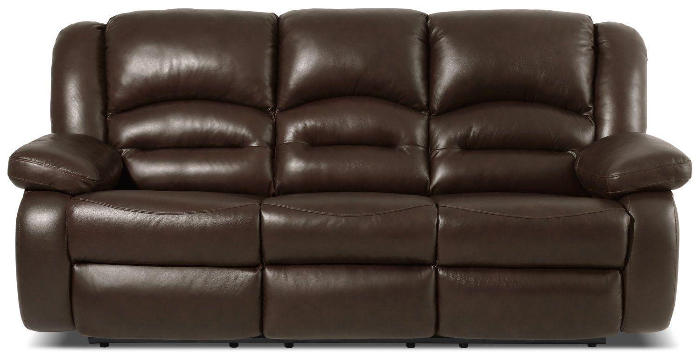 Toreno Genuine Leather Reclining Sofa Brown The Brick Leather Reclining Sofa Leather Reclining Loveseat Reclining Sofa