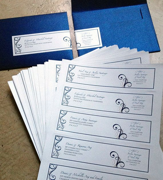 Easy Addressing And Cute!! Guest And Return Address Wedding Envelope By  Papercakedesigns, $1.00
