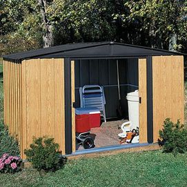 Arrow Gable-style Shed with Faux Woodgrain Finish | Sears