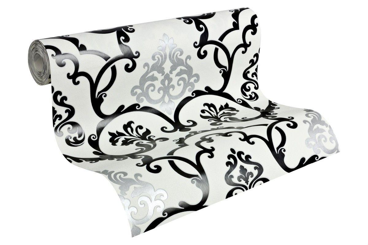Tolle Tapeten Schwarz Weiß Silber