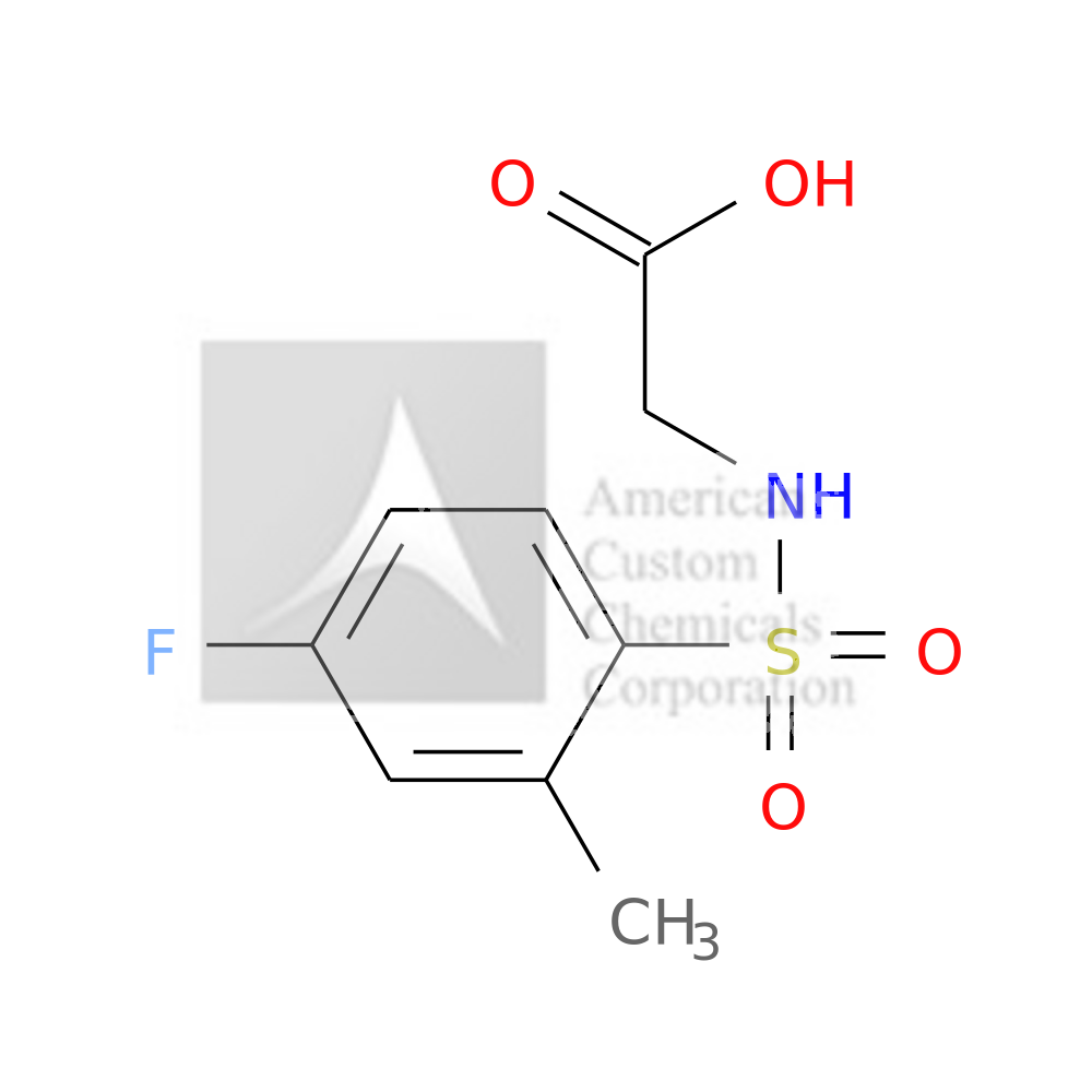 N-[(4-FLUORO-2-METHYLPHENYL)SULFONYL]GLYCINE is now  available at ACC Corporation