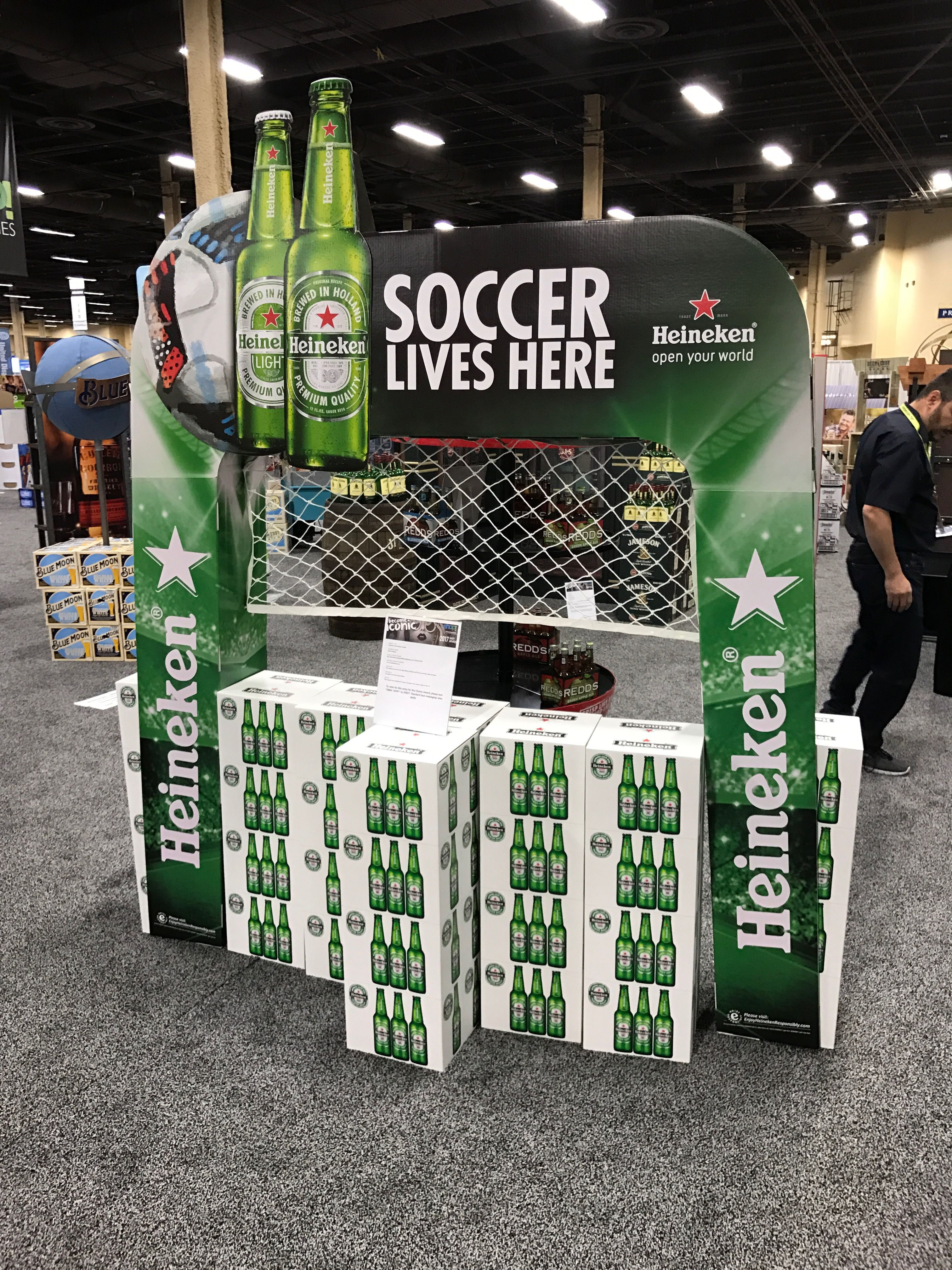 Looking To Purchase This Unit: Heineken 'Soccer Lives Here' Free Standing Unit