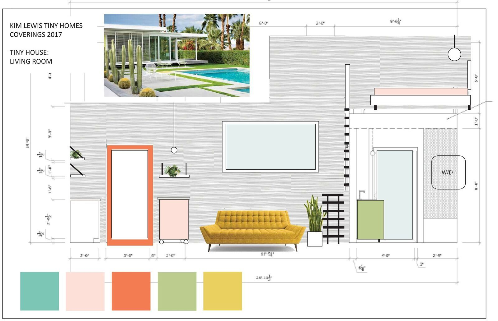 Mood Board Of The Palm Springs Inspired Retro Bungalow Ids Vignette Designed By Kim Lewis Vignette Design Design Mood Board
