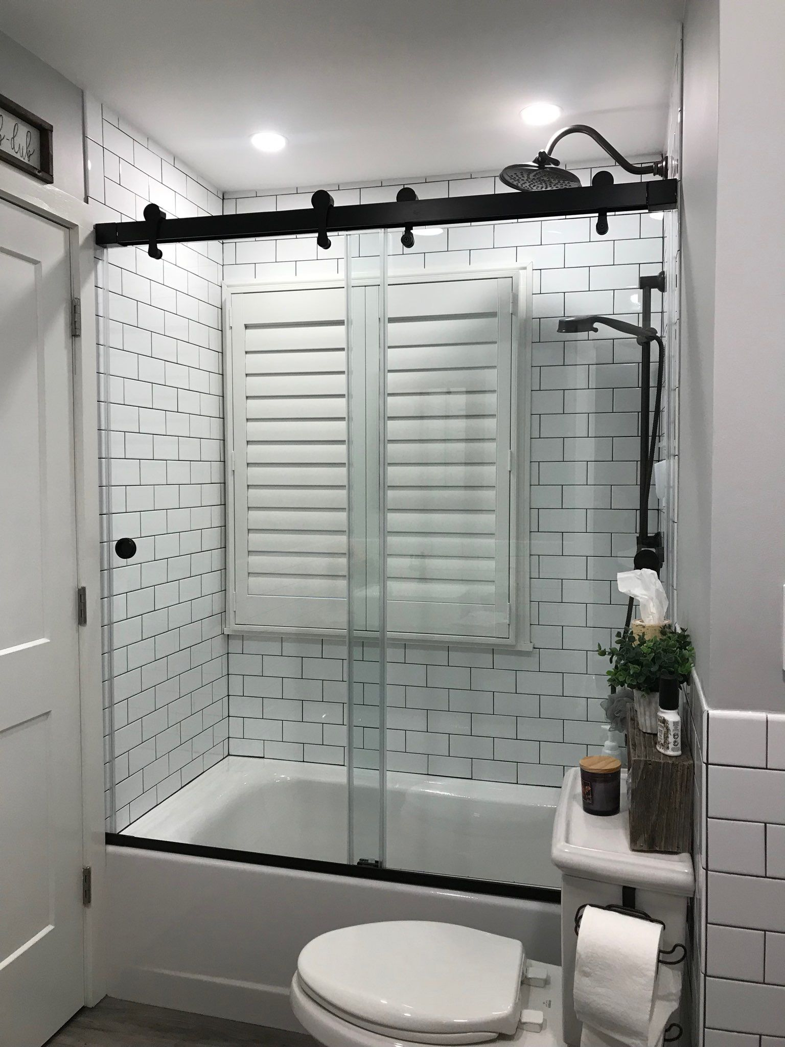 Centec Premier Barndoor Style Bypass Door In Oil Rubbed Bronze Finish Bath Shower Doors Tub Shower Doors Shower Doors