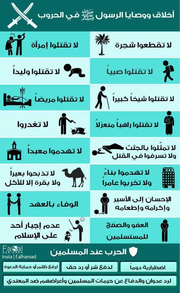 Desertrose أخلاق الرسول صلى الله عليه وسلم في الحروب Islam Facts Islam Beliefs Islamic Inspirational Quotes
