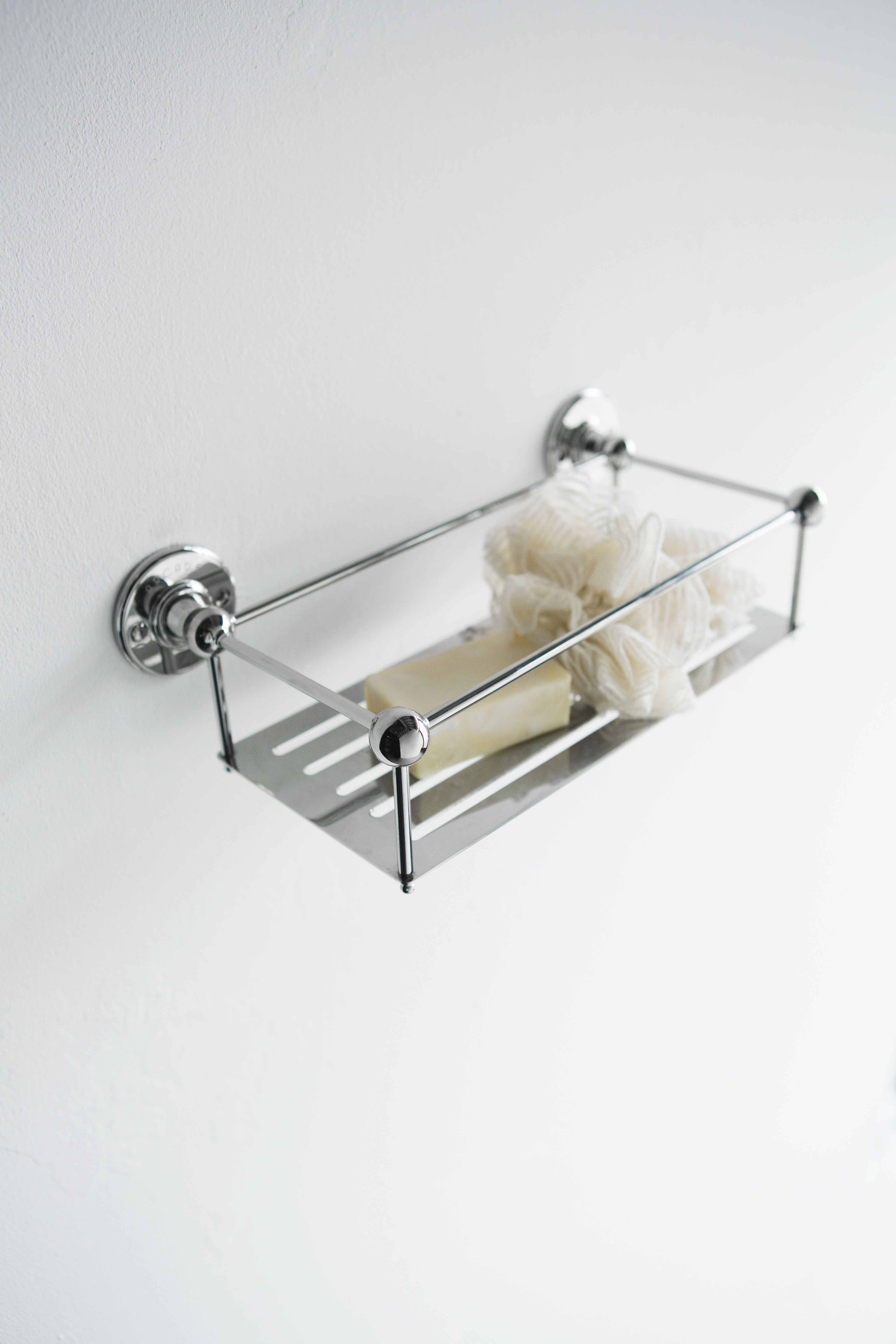 Sleek Bathroom Accessories   Wall Mounted Wire Basket From Arcade Bathrooms.  Http://www.arcadebathrooms.com/Products/ProductDetail?