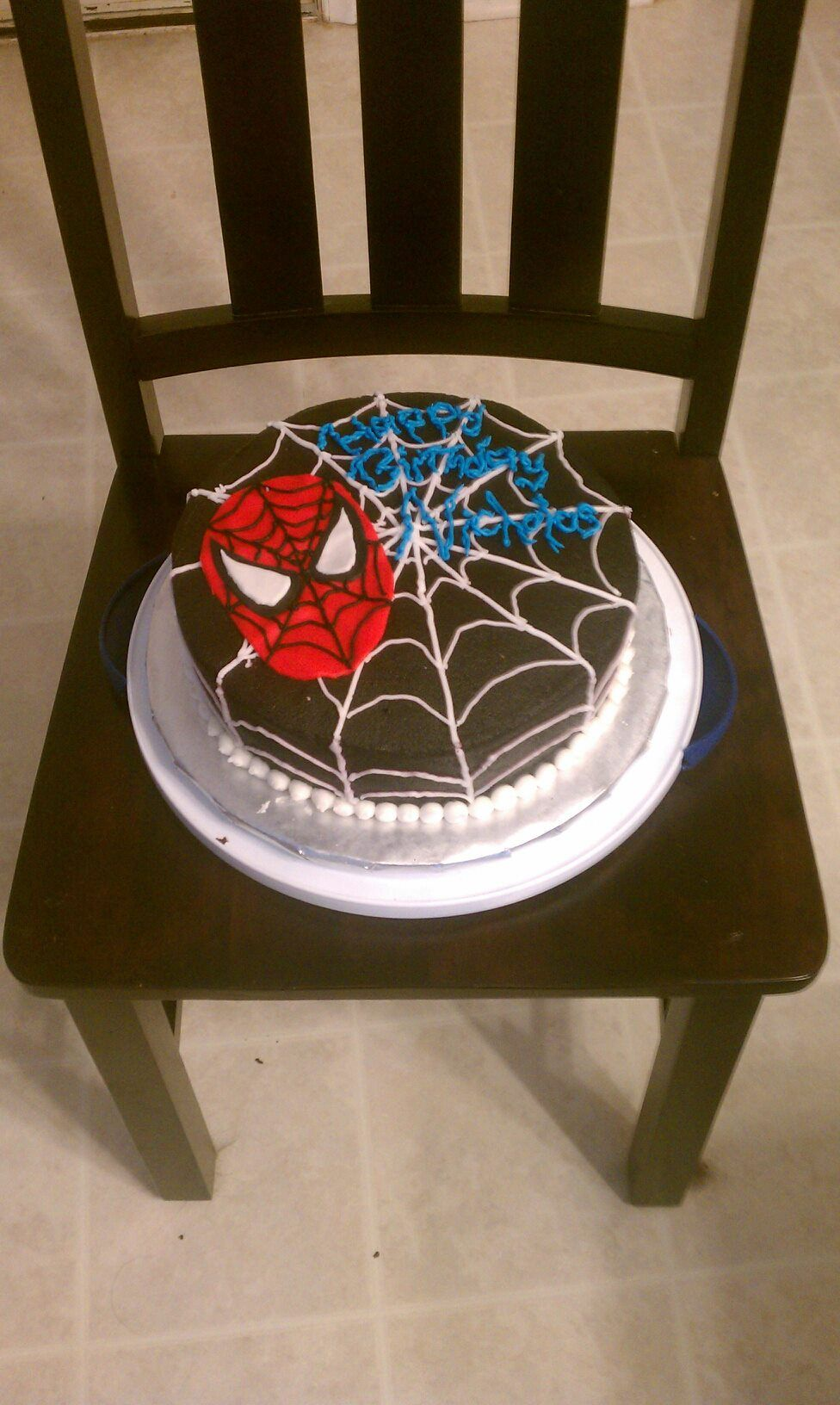 Birthday Cake Designs Spiderman : Black Spiderman Cake Cake Decorating Ideas Pinterest