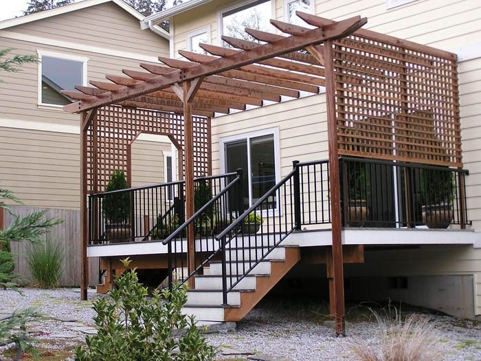 How To Build A Pergola On An Existing Deck Google Search Pergola Building A Pergola Deck With Pergola