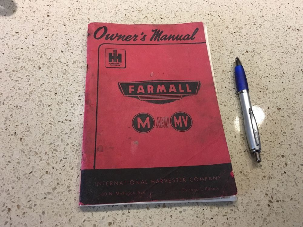 Ih Farmall H Hv Tractor Illustrated Parts Catalog Manual Tc 27 Ebay